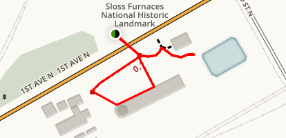 Sloss Furnaces Trail Map