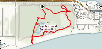Dauphin Island Audubon Bird Sanctuary  Map