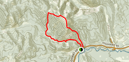 Prairie Mountain and Prairie Creek Map