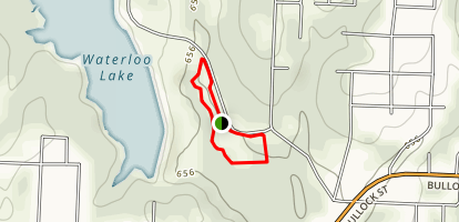 Waterloo Lake Walking Track Map