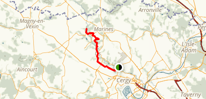 HIke from Boissy L'Aillerie Trail Station Map
