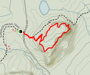 Oberg Mountain Loop Via Superior Hiking Trail Map