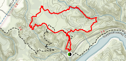 Jay Cooke Waterfall Loop Map