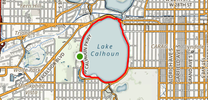 Lake Calhoun via Windy Trail Map