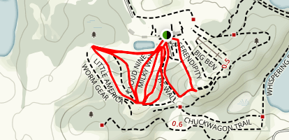 Andes Tower Hills Snowboarding Trails Map