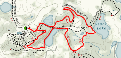 Whispering Pines Trail Map
