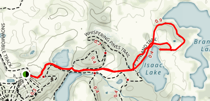 Finland Trail to Isaac Lake Map