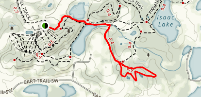 Whispering Pines to Deep Woods Trail Map