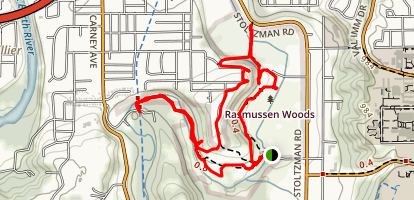 Rasmussen Woods Map