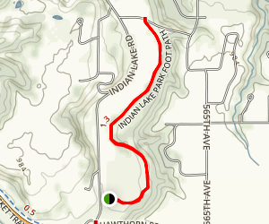 Indian Lake Park Foot Trail Map