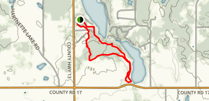 Lake Sylvia loop Map