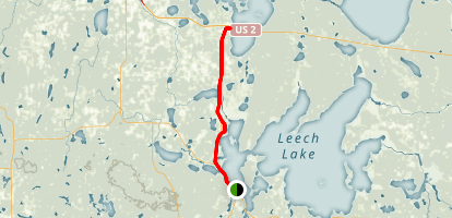 Heartland Trail from Walker to Cass Lake Map