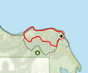 Mile Lacs Lake Loop from Father Hennepin State Park Campgroung Map
