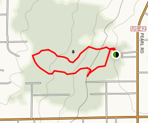Princess Ledges Loop Trail Map