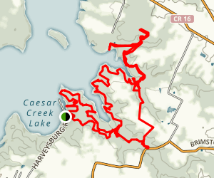Caesar Creek Trail Map