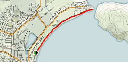 Middleton Beach Shared Path to Emu Point Map