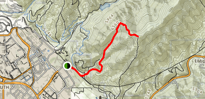 Big Beacon Mount Wire Trail Map