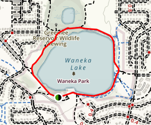 Waneka Lake Map