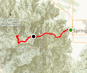 Skyline Trail: Cactus to Clouds Map