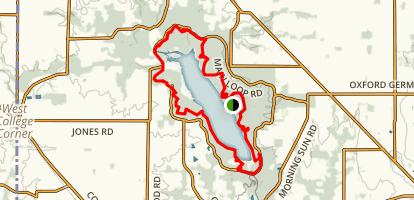 Acton Lake loop Map