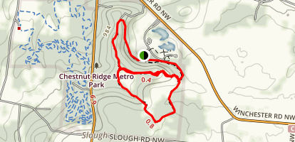 Chestnut Ridge- Homesite, Meadows, and Ridge Trail Map