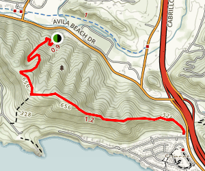 Ontario Ridge Trail via Sycamore Springs Map