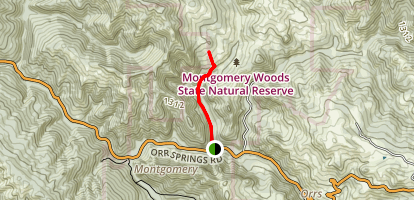 Montgomery Woods North Side Trail Map