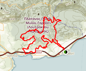 Agii Theodori Enduro Ride Map