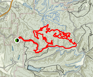 Trail 8 Loop to Hesitation Point Map
