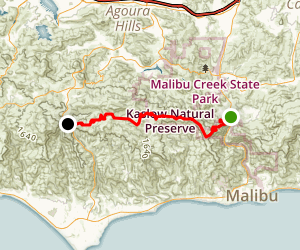 Backbone Trail: Tapia to Kanan-Dume Map
