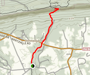 Cumberland Valley Overlook Via Appalachian Trail Map