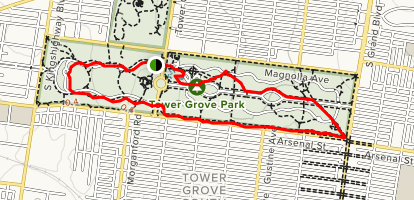 Saint Louis Tower Grove Park Tour Map