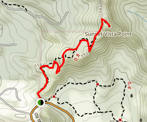 Sunset Trail to Vista Point Map
