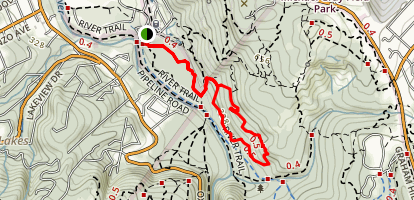 Bottom of the Low Road Trail Map