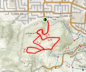 Bernal Hill and Vista Loop Trail Map