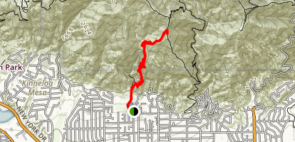 Bailey Canyon Trail to Jones Peak Map