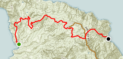 Little Harbor to Whites Landing via Trans-Catalina Trail Map