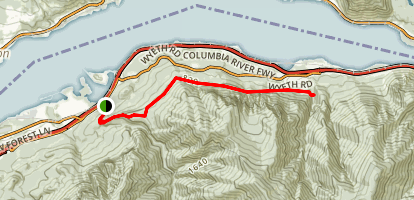 Herman Creek to Wyeth Traverse Map