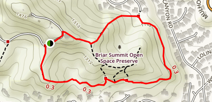 Briar Summit Open Space Preserve Loop Trail Map
