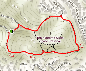 Briar Summit Open Space Preserve Loop Trail [PRIVATE PROPERTY] Map