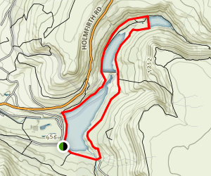 Dovestones Reservoir and Yeoman Hey Reservoir Map