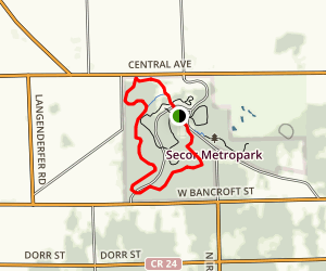 Secor Metropark Brown Trail  Map