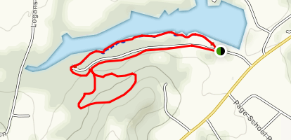 Adams Lake Loop Trail Map