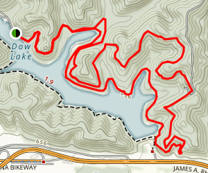 Sundown and Lake Hills Loop Trail Map