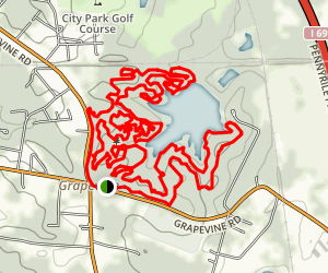 Grapevine Lake Trails  Map
