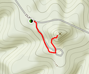 Tater Knob Fire Tower Map