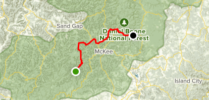 Sheltowee Trace: S Tree Campground to Turkey Foot Campground Map