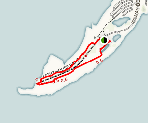 Tawas Point Via Sandy Hook Nature Trail Map