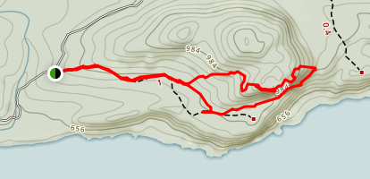 Bare Bluff Trail Map