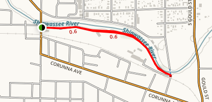 The James S. Miner Owosso Riverwalk Map